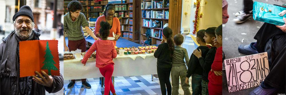 Cartes et chocolats pour les sans abris parisiens et gouter de Noël pour les enfants d'un CHU - Crédits photos Sans A